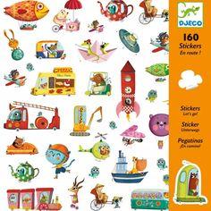 160 stickers 'op weg!'