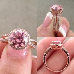"""""""My promise ring. It's rose gold with Swarovski crystals"""" lobbed the Idea of Swarovski Crystals in a promise ring instead of actual gems"""