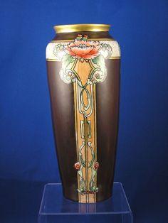 CT Altwasser Silesia Art Nouveau Poppy Vase (c.1875-1934)