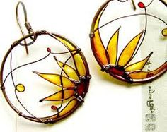 Image result for vintage copper rose ring and earring set