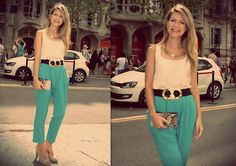 candy color harem pants