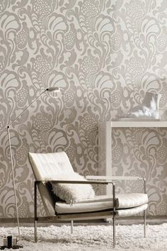 Collection massai hertex Flock Wallpaper, Casamance, Decoration, Interior Design Living Room, Future House, Architecture Design, Kitchen Decor, Accent Chairs, Sweet Home