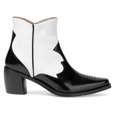 AlexaChung Two-Tone Glossed and Smooth-Leather Ankle Boots Quirky Shoes, Womens Leather Ankle Boots, Alexa Chung, Shoe Game, Sari, Smooth Leather, Timeless Fashion, Heeled Boots, Fashion Shoes