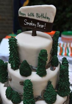 smokey the bear cake   cake is seen at the 65th birthday celebration of Smokey the Bear ...