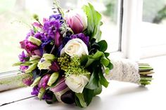 purple and green wedding flowers - Google Search