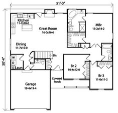 Cheerful Ranch House Plan - 22044SL | Country, Southern, 1st Floor Master Suite, CAD Available, PDF | Architectural Designs
