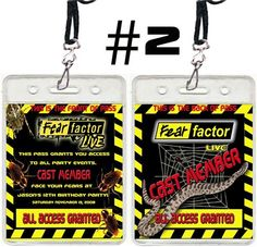 Can't wait to order these for Colt's Fear Factor b-day party!