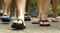 LA  accidentally outlaws flip-flops in the Los Rios Park, and they are outlawed in San Juan Capistrano.  Thankfully they are loyal friends in UK festival scene.  However choose your style carefully, as they may get lost at a muddy festival.
