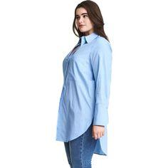 f6e23d2c66c Side Split Turn Down Collar Loose Top. Curvy Fashion Queen. Office Lady  Blouse Plus Size Women Shirt ...