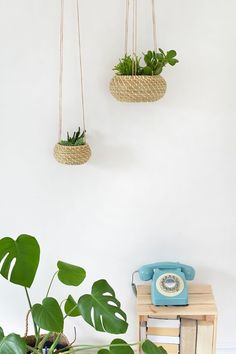 einfache IKEA Hacks: Seagrass Hanging Planters Burkatron