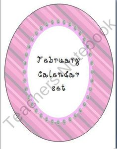 February Calendar Pieces- Set of 3 product from Bekaboo-Creations on TeachersNotebook.com