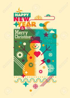 59650600-New-Year-poster-with-snowman--Stock-Photo.jpg (919×1300)