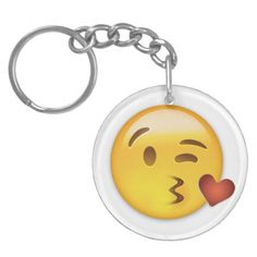 Face Throwing A Kiss Emoji Acrylic Keychains