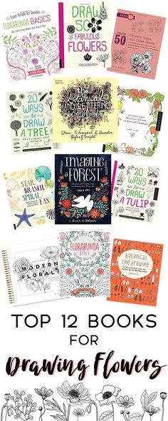 Top 12 Books for Easy Flower Drawings