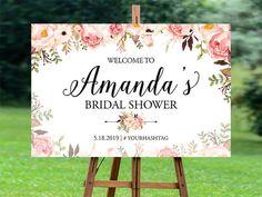 Bridal Shower Welcome Sign, Bridal Shower sign, Bridal Shower decoration…