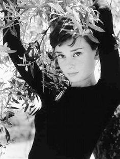 Audrey Hepburn in a 1955 photo by Philippe Halsman