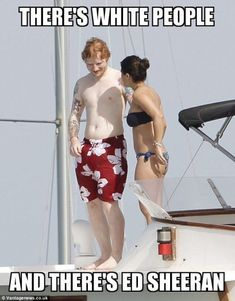 Ed Sheeran puts on amorous display with new girlfriend Athina Andrelos Ed Sheeran Quotes, Ed Sheeran Lyrics, Ed Sheeran Facts, Funny Shit, Funny Jokes, Funny Stuff, Best Funny Pictures, Funny Photos, Celebrity Memes