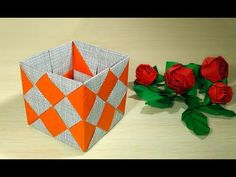 Origami box for trinkets or paper jewelry box. Ideas for home decor and gifts. - YouTube