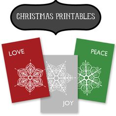Thanksgiving is behind us, so let's get our Christmas decor on! At Printable Decor, you can download the new Christmas printable set I created for my seasonal frame trio. The Love, Joy, Peace sno...
