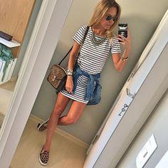 A linda blogueira @dani__cardoso com nosso vestido STRIPE   Vendas WhatsApp  SHOP online  www.arraza.com.br