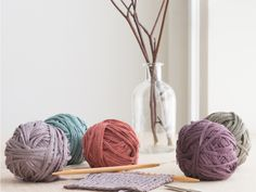 New colors in Kestrel: minos, aegean, anemone, byzantium, and turtle. Knitting Kits, Knitting Yarn, Knitting Patterns, Yarn Display, Little Acorns, Yarn Storage, Yarn Bag, Yarn Inspiration, Yarn Shop