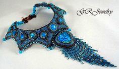 Beautiful bead embroidered jewelry by Guzialia Reed   Beads Magic#more-3772