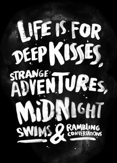 Life is for deep kisses... Art Print WEAREYAWN