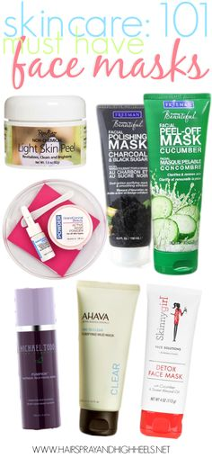 Best Face Masks: Skincare 101 - Hairspray and Highheels All Things Beauty, Beauty Make Up, Beauty Care, Diy Beauty, Beauty Skin, Beauty Hacks, Beauty Stuff, Beauty Ideas, Best Beauty Tips