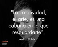 """""""La creatividad, el arte, es una cabaña en la que resguardarte"""" Mathias Malzieu  #cita #quote #escritura #literatura #libros #books #MathiasMalzieu"""