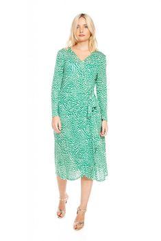 e9c47700e7 Green Wrap dress - חנה בנה Xl, Green Wrap, Wrap Dress, Cotton,
