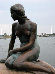 Little Mermaid statue Copenhagen harbor Denmark