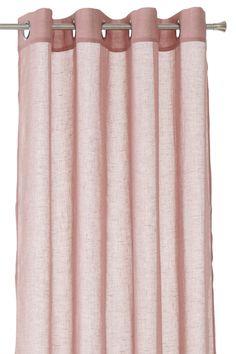 Rengasverhot pehmeää, läpikuultavaa kangasta, jossa pellava-look. Renkaat hopeanväristä metallia. Leveys 140 cm. Kaksi pituutta: 220 ja 250 cm. <br><br>Rengasverhot laskeutuvat kauniisti, ja poimutusta on helppo säädellä. <br><br>100% polyesteriä<br>Pesu 30°
