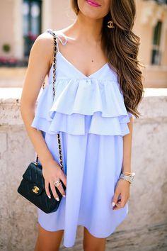 Blue ruffle dress!