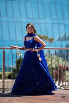 Wearing a blue bridal lehenga for your big day? These blue bridal lehengas will up your glamour quotient. The unique lehenga is in huge demand nowadays. Take cues from these designer lehenga. Indian Wedding Gowns, Indian Bridal Outfits, Indian Gowns Dresses, Indian Designer Outfits, Designer Dresses, Pakistani Bridal Lehenga, Designer Bridal Lehenga, Indian Lehenga, Lehnga Dress