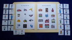 File Folder Games For Preschoolers | Teacher Resource Community Helpers Laminated File by feltresources