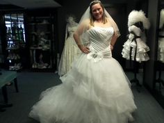 See other dropped waist plus size wedding dresses at Darius Cordell Fashion Ltd.  This plus ssize bridal gown has a ruched bodice where the fabric is tightly pleated. The ball gown skirt is made of organza.  This strapless wedding gown designs can be made with any changes. (We can also replicate any dress from a picture.) Get pricing and see options for plus size #weddingdresses at www.dariuscordell.com