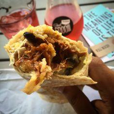 The best Korean Pulled Pork Burrito EVER! @ Friska