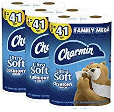 Charmin Ultra Soft Cushiony Touch Toilet Paper 24 Family Mega Rolls = 123 Regular Rolls (Packaging May Vary) Best Toilet Paper, Toilet Paper Roll Crafts, Dishwasher Pods, Dishwasher Detergent, Household Cleaning Supplies, Household Items, Back Pain Exercises, Medical Dental, Corona