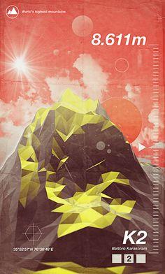 Highest Peaks by Giampaolo Miraglia, via Behance