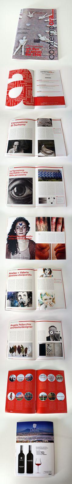 Realizzazione Rivista/Magazine di Arte Contemporanea.  CONTEMPORA Rivista A4 16 Pagine