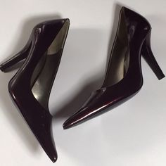 Fabulous Maroon Patent Heels Used a couple of times.  In fantastic condition.  1 Nine West Shoes
