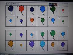 * Zoek dezelfde ballon!