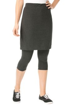 Plus Size Capri leggings skirt