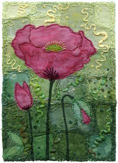 Opium Poppy by Kirsten's Fabric Art, via Flickr