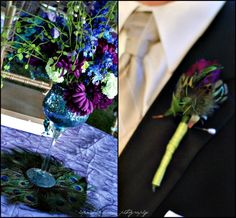 Peacock Wedding Flowers | Peacock wedding bouquets-I love Bernina by... | Other Ideas
