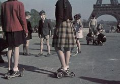 Paris during German occupation in WW2. Photo made André Zucca.
