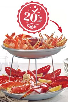 It's the final Crab Down! 🦀 Crab Week ends tomorrow so make sure you use promo code CRABWEEK to get 20% off your favorite crab dish before it's too late. Lobster Gram, Lobster Pot Pies, Crab Legs For Sale, Frozen Lobster Tails, Shrimp Cocktail Sauce, Maryland Style Crab Cakes, Seafood Tower, Alaskan King Crab, Filet Mignon Steak
