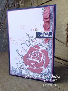 my paper oasis, timeless textures, rose garden thinlets, stampin up, handmade card, floral card