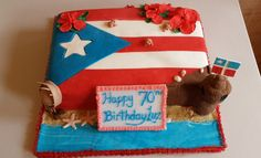 Flag of Puerto Rico Birthday cake #cake