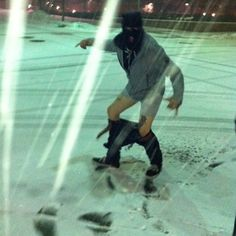 Only Dylan would go out in the snow with his pants around his ankles :) #dylanalvarez #HU